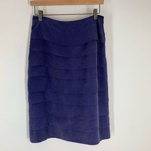 Boden skirt size 6 purple tiered Lined 100% silk